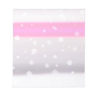 Grey Snow Fade Notepad