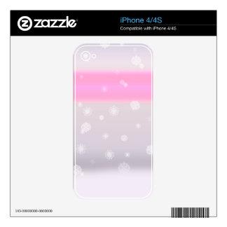 Grey Snow Fade iPhone 4S Skin