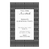 Grey Snowflake Christmas pattern Flyer