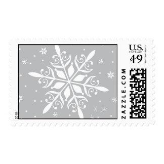 Grey snowflake postage