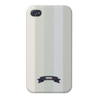 Grey Soft Color Stripe Pattern iPhone 4 Case