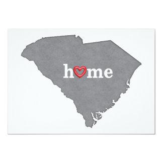 Grey SOUTH CAROLINA Home & Open Heart Card