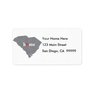 Grey SOUTH CAROLINA Home & Open Heart Label