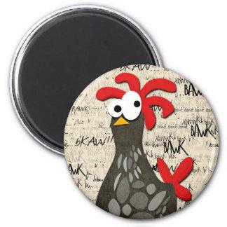 Grey Speckled Chicken Magnet