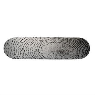 Grey Spider Web Skateboard