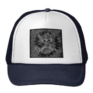 Grey Spiral Smoke Teddy Bear Trucker Hat
