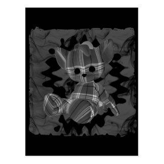 Grey Spiral Smoke Teddy Bear Postcard