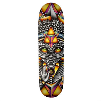Grey Spirit of the Pineal Skateboard Deck