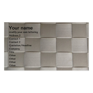 grey square pattern business card