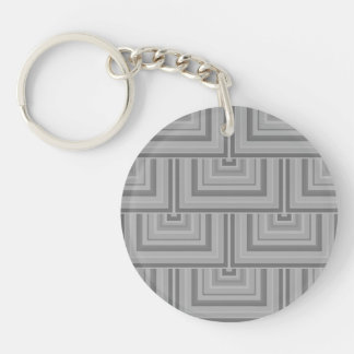 Grey square scales keychain