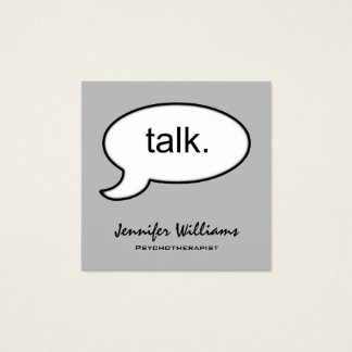 Grey Square Talk Psychotherapist Appointment Card