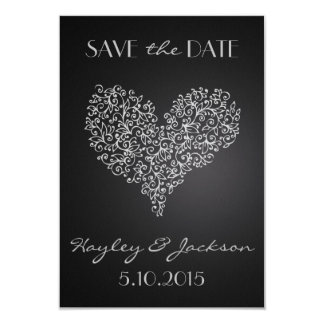 """grey square wedding save the date card """"with love"""" personalised announcement"""