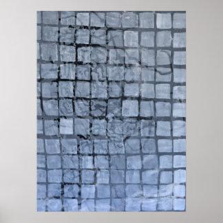 Grey Squares - 2 Poster