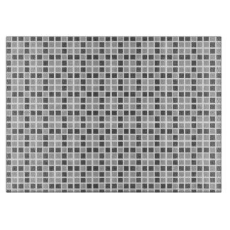 Grey Squares Pattern Cutting Board