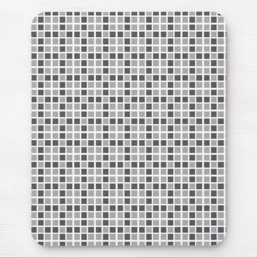 Grey Squares Pattern Mouse Pad