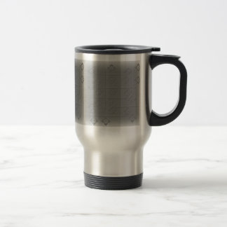 Grey squeezed out travel mug