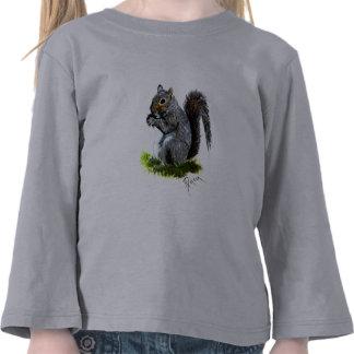 Grey Squirrel Toddler Long Sleeve Tee Shirt