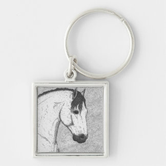 Grey Stallion Keychain