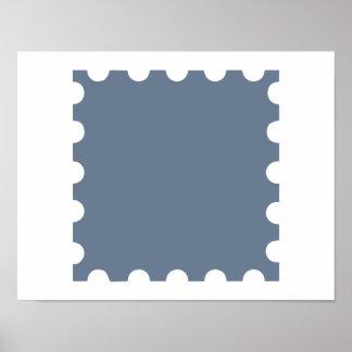 Grey stamp poster