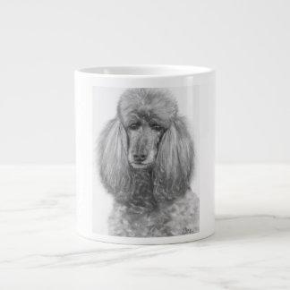 Grey Standard Poodle.jpg Large Coffee Mug