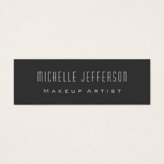 Grey Standard Slim Size Trend Artist Business Card
