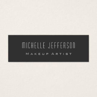 Grey Standard Slim Size Trendy Chic Business Card