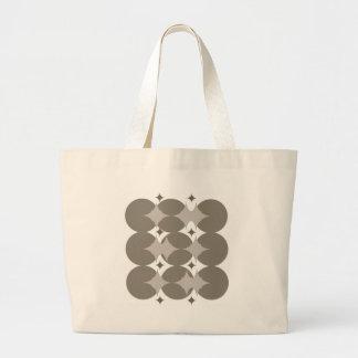 Grey Star Pattern Tote Bag