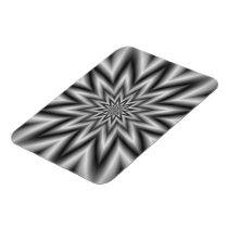Grey Star Photo Magnet