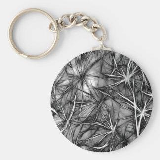 grey stars basic round button keychain