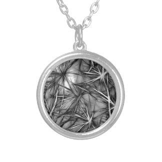 grey stars round pendant necklace