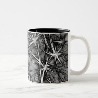 grey stars Two-Tone coffee mug