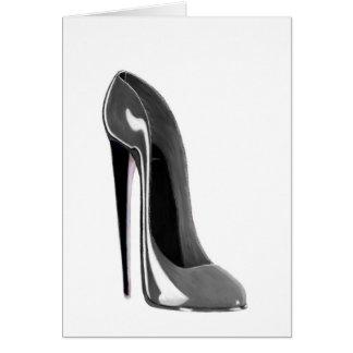 Grey Stiletto Shoe Card