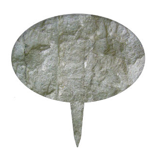 Grey Stone Rockwall Texture Background Cake Topper