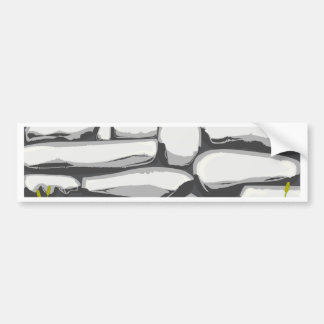 Grey Stone Wall Bumper Sticker