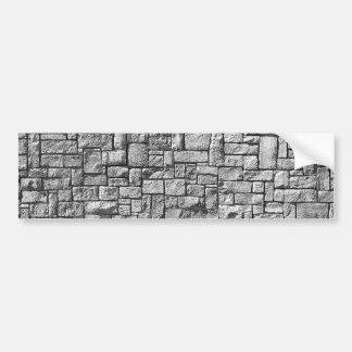 Grey stone wall bumper sticker