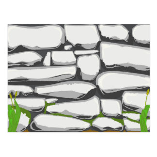 Grey Stone Wall Postcard