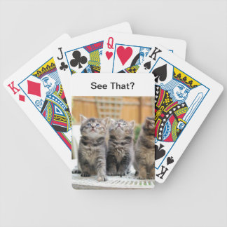 Grey Striped Kittens Cat Playing Cards