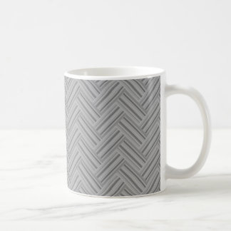 Grey stripes double weave pattern coffee mug