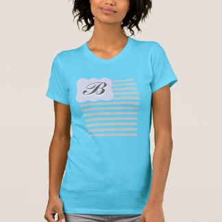 Grey Stripes Monogram Women's T-Shirt