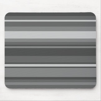 Grey stripes mouse pad