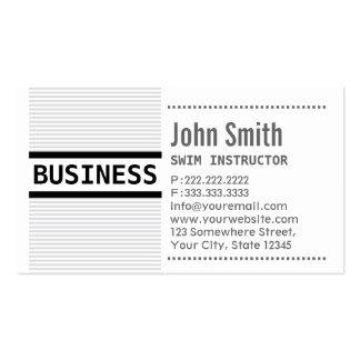 Grey Stripes Swim Instructor Business Card