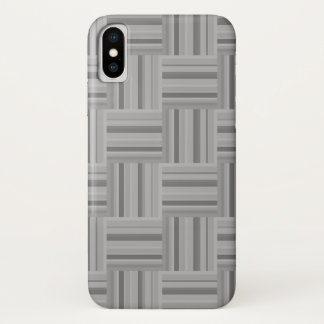 Grey stripes weave pattern iPhone x case