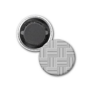 Grey stripes weave pattern magnet