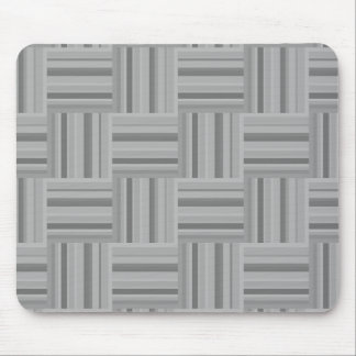 Grey stripes weave pattern mouse pad