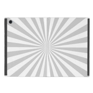 Grey Sun Burst Spinning Wheel Customize This iPad Mini Cover