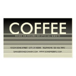 grey swatch COFFEE Business Card Templates