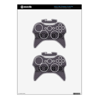 Grey Swirls Embellished XBox Controller Xbox 360 Controller Skins