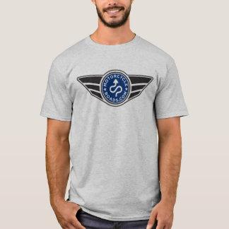 Grey T-shirt w/basic blue MCR logo