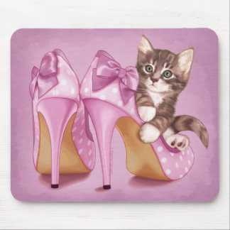Grey Tabby Kitten Mouse Pad