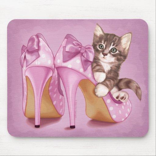 Grey Tabby Kitten Mousepads